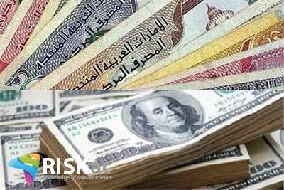 نرخ دلار بر اساس نرخ درهم