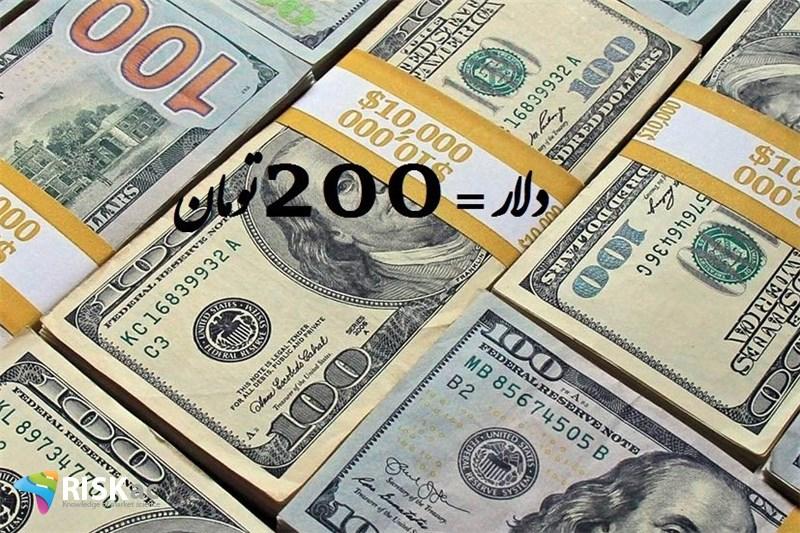 سال 99، 28 میلیارد دلار را جامعه 200 تومان می خرد